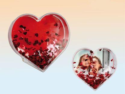 Obrázok 3D fotorámček v tvare srdca