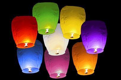 Obrázok Lampióny šťastia 10 ks mix farieb