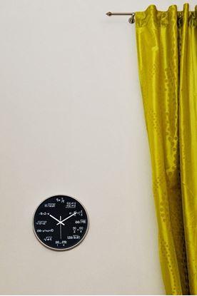 Obrázok Matematické hodiny - čierne