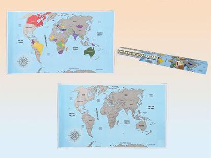 Obrázok Stieracia mapa sveta