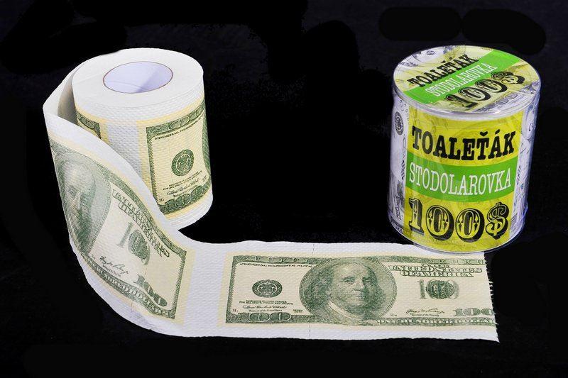 Toaletný papier - 100 Dolarovka