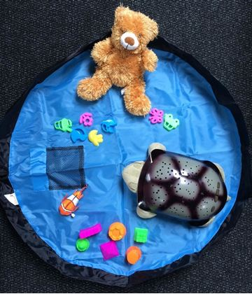 Obrázok z Vak na hračky modrý - malý