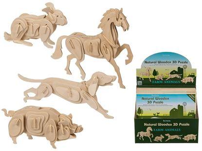 Obrázok 3D puzzle - zvieratá