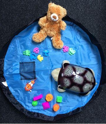 Obrázok z Vak na hračky modrý - veľký