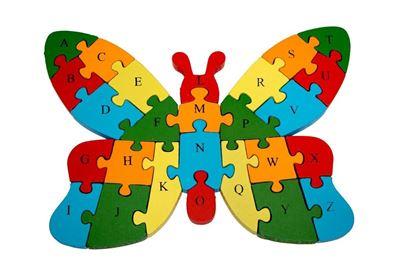 Obrázok Vzdelávacie drevené puzzle – motýľ