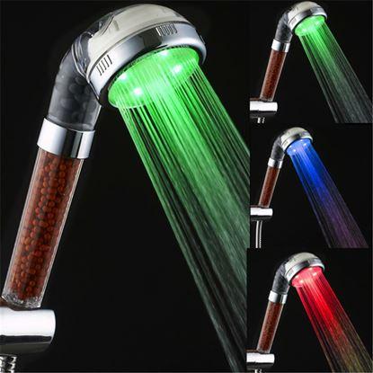 Obrázok Farebne svietiaca LED sprcha s kamienkami