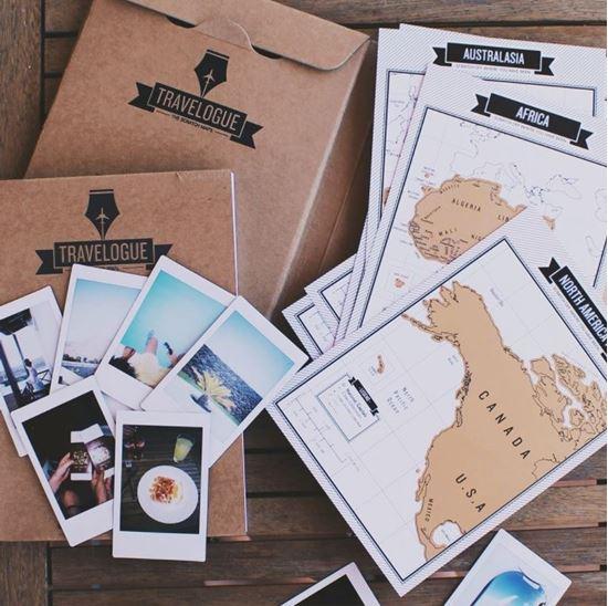 Obrázok z Cestovný denník so stieracimi mapami