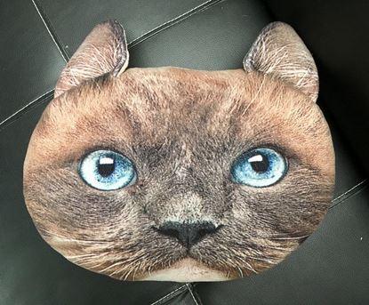 Obrázok Vankúš v dizajne mačky - hnedý