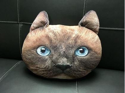 Obrázok z Vankúš v dizajne mačky - hnedý