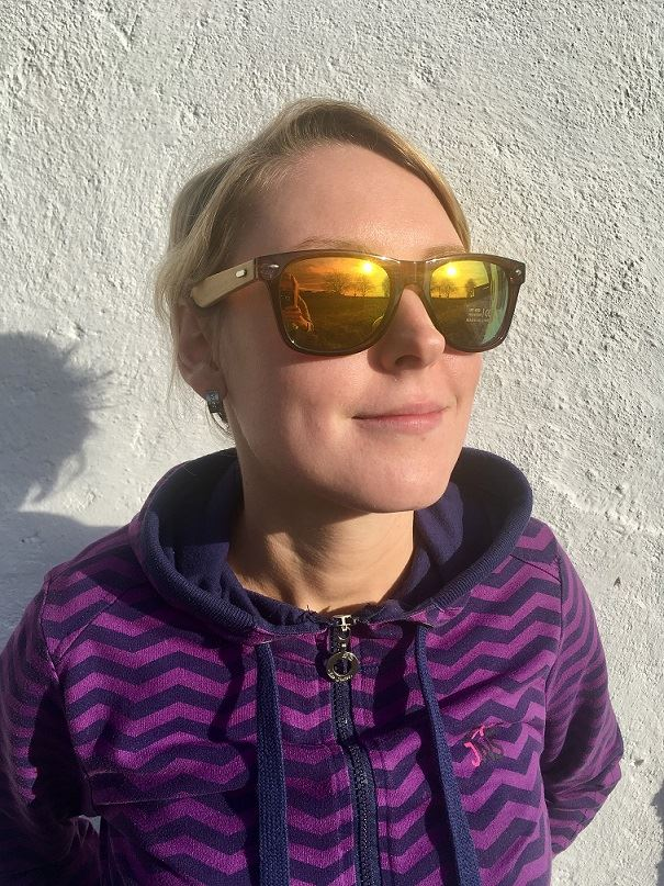 99c9fb292 Drevené slnečné okuliare - dúhové. Obrázok z Drevené slnečné okuliare ...
