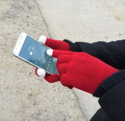 Obrázok Dotykové rukavice - pletené