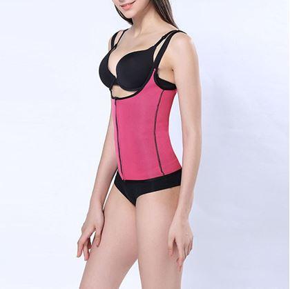 Obrázok z Športová vesta so sauna efektom XXL - ružová