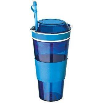 Obrázok Dvojkelímek na nápoj a desiatu - modrý