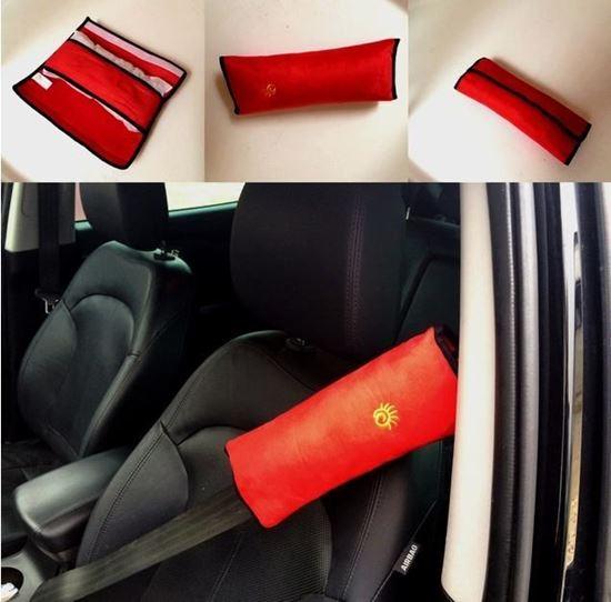Obrázok z Cestovný vankúš na pás do auta - červený