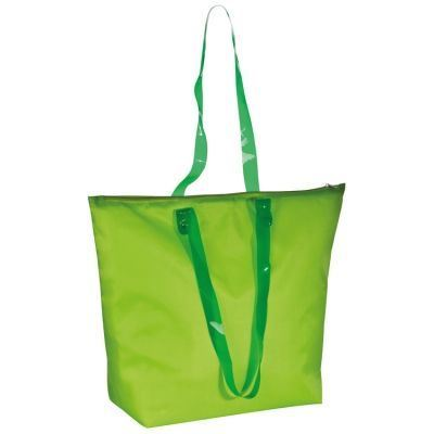 Obrázok z Plážová taška s průhlednými uchy - zelená