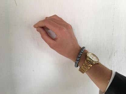 Obrázok Perlový náramek Dala - šedý