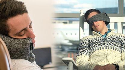 Obrázok Cestovný vankúš s maskou na oči