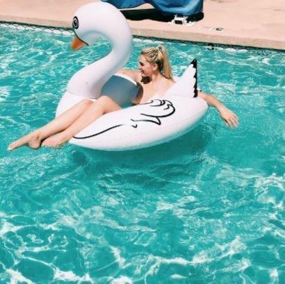 Obrázok z Nafukovací kruh Biela labuť