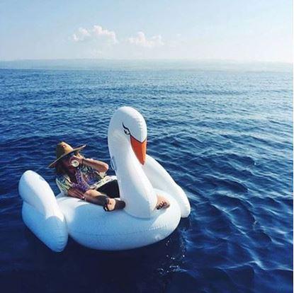 Obrázok Nafukovacie lehátko Biela labuť