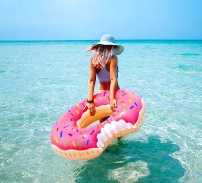 Obrázok Nafukovací kruh Donut - ružový