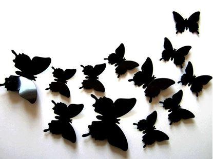 Obrázok 3D motýle na stenu