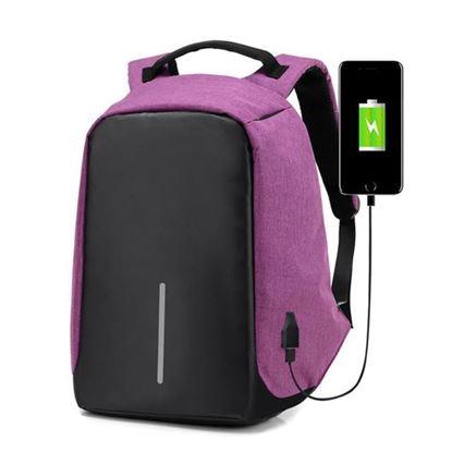 Obrázok Bezpečnostný batoh s USB nabíjačkou