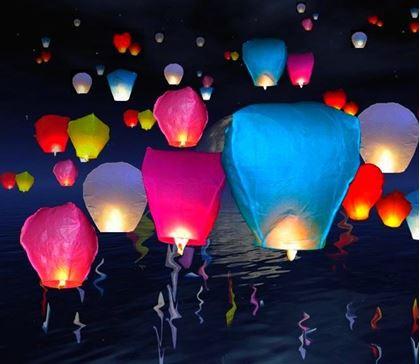 Obrázok z Lampióny šťastia 10 ks mix farieb