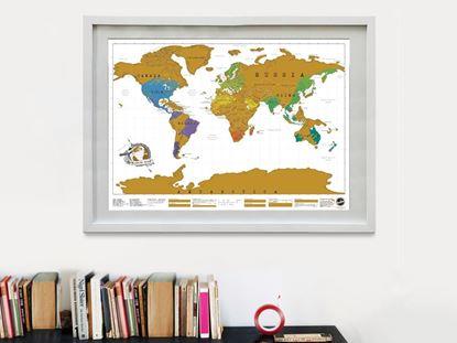 Obrázok Stieracia mapa sveta - Deluxe
