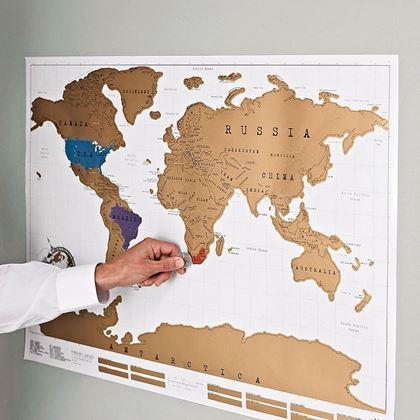 Obrázok z Stieracia mapa sveta - Deluxe