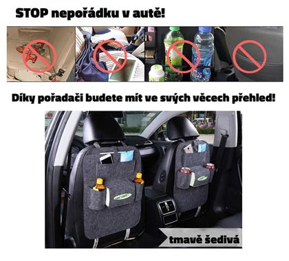Obrázok z Zakladač na sedačku do auta - tmavosivý