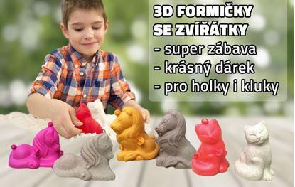 Obrázok 3D formičky malé - mix zvieratiek