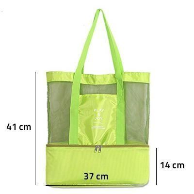Obrázok z Plážová taška s termo priehradkou - zelená