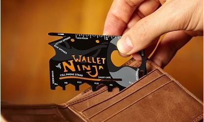 Obrázok Oceľová multifunkčná karta Wallet Ninja 18v1