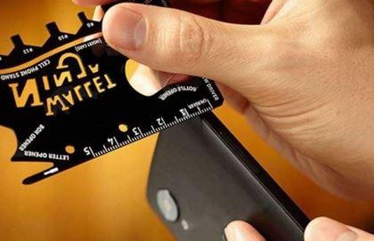 Obrázok z Oceľová multifunkčná karta Wallet Ninja 18v1