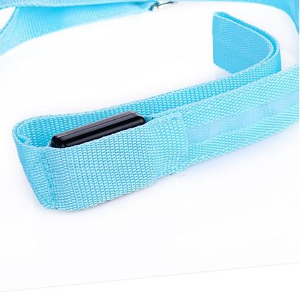 Obrázok z Textilná svietiaca vôdzka - modrá