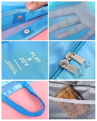 Obrázok z Plážová taška s termo priehradkou - modrá