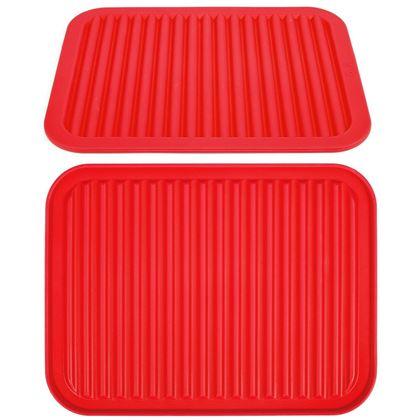 Obrázok z Kuchynská silikónová podložka - červená