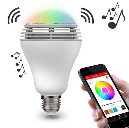 f60606563 Inteligentní LED žárovka s reproduktorem a bluetooth Obrázok z Inteligentná LED  žiarovka ...