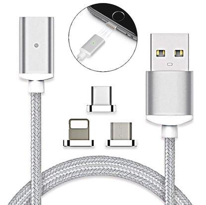 Obrázok USB kábel s vymeniteľnými koncovkami
