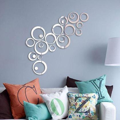 Obrázok z Nálepky na stenu/zrkadlo - kruhy