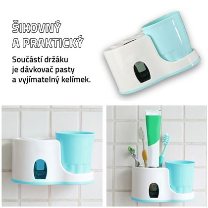Obrázok z Kúpeľňový držiak s dávkovačom pasty
