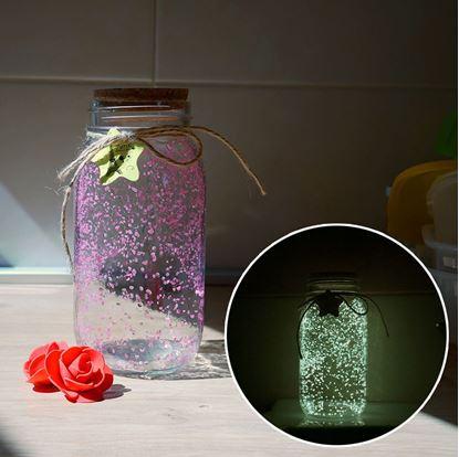 Obrázok Svietiace sklenená dóza
