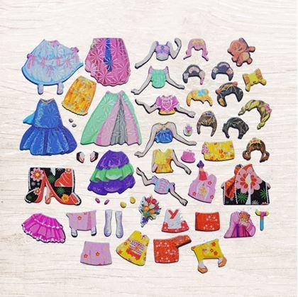Obrázok z Drevená magnetická tabuľka deluxe - Princezná