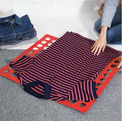 Obrázok z Doska na rýchle skladanie oblečenia - červená