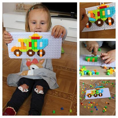 Obrázok Mozaiková stavebnica - autá
