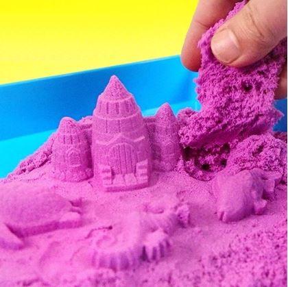 Obrázok z Tekutý kinetický piesok stredný set 1000 g - plastový kýblik