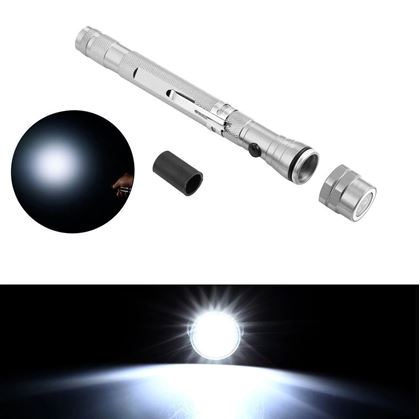 Obrázok z Teleskopická baterka - strieborná