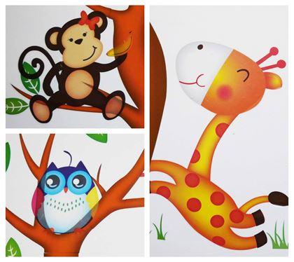 Obrázok z Samolepky na stenu - Zvieratká