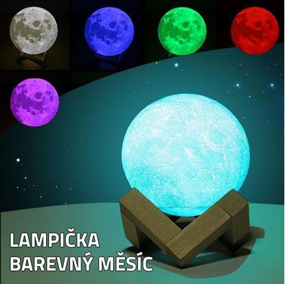 Obrázok Lampička - farebný Mesiac