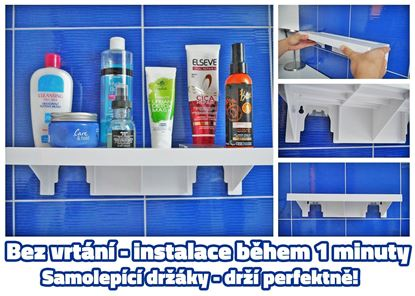 Obrázok Nalepovacie polička - 3 ks